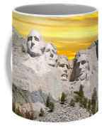 Mount Rushmore 11 Digital Art Coffee Mug