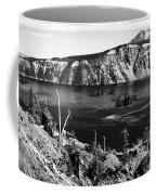 Mount Scott Behind Crater Lake B W Coffee Mug