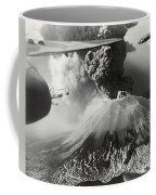Mount Vesuvius Coughs Up Ash And Smoke Coffee Mug by Us Army Air Forces Official