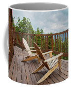 Mountain Adirondack Chairs Coffee Mug
