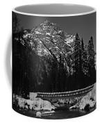 Mountain And Bridge Black And White Coffee Mug