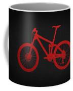 Mountain Bike - Red On Black Coffee Mug