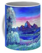 Mountain Dreams Meow Coffee Mug