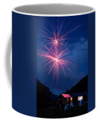 Mountain Fireworks Landscape Coffee Mug
