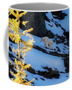 Mountain Goat And Larches Coffee Mug