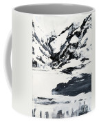 Mountain Lake In Black And White Coffee Mug