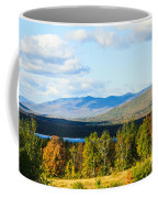 Mountain Lake In The Fall Coffee Mug