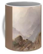 Mountain Landscape In Tirol With Chamois, Johannes Tavenraat, C. 1858 Coffee Mug