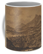 Mountain Landscape With A Hollow Coffee Mug