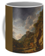 Mountain Landscape With River And Wagon Coffee Mug