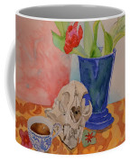Mountain Lion Skull Tea And Tulips Coffee Mug