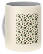Mountain Lodge Cabin In The Forest - Home Decor Pine Cones Coffee Mug