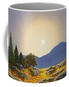 Mountain Meadow In Moonlight Coffee Mug