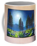 Mountain Moonglow Mural Winner Of The 2005 Coba Peoples Choice Award  Coffee Mug