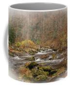 Mountain Stream With Vignette #2 Coffee Mug