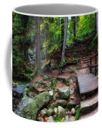 Mountain Trail With Staircase In Autumn Forest Coffee Mug