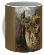 Mountainous Landscape With Waterfall Coffee Mug