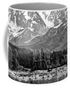 Mountains Alaska Bw Coffee Mug