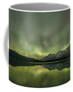 Mountains In The Northern Lights Coffee Mug