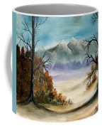 Mountains Landscape Oil Painting Coffee Mug