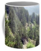 Mountains With Railroad And Tunnels  Coffee Mug