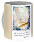 Mourning Dove About To Land On Tree Branch Coffee Mug