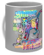 Mouse And Cat Friend Coffee Mug