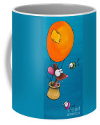 Mouse In His Hot Air Balloon Coffee Mug