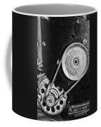 Movie Projector Gears In Black And White Coffee Mug