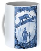 Mowgli, Baloo And Bagheera-blue Coffee Mug