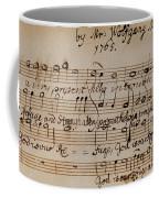 Mozart: Motet Manuscript Coffee Mug by Granger