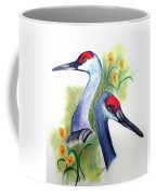 Mr And Mrs Sandhill Cranes Coffee Mug