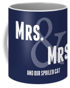 Mrs And Mrs And Cat- Blue Coffee Mug