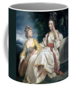 Mrs Thrale And Her Daughter Hester Coffee Mug