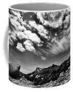 Mt. Lassen B W Coffee Mug