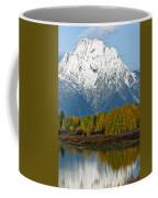 Mt Moran From Ox Bow Bend Coffee Mug
