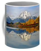 Mt Moran From Ox Bow Bend On A Fall Morning Coffee Mug