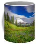 Mt Rainier And Wildflowers Coffee Mug