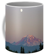 Mt Rainier August Moon Coffee Mug
