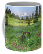 Mt Rainier Meadow Flowers Coffee Mug