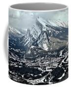 Mt Rundle Aerial View Coffee Mug