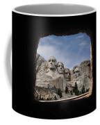 Mt Rushmore Tunnel Coffee Mug