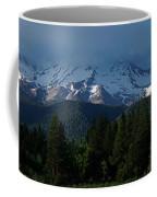Mt Shasta Under Clouds - Panorama Coffee Mug