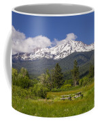 Mt Shasta With Picnic Tables Coffee Mug