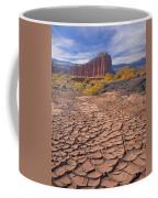 212648-mud Cracks Upper Cathedral Valley  Coffee Mug