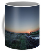 Muddy Road Sunrise II Coffee Mug