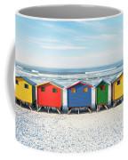 Muizenberg Beach Huts 2 Coffee Mug