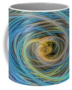 Multi Color Line Art Blue Yellow Gray Green Coffee Mug