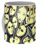 Multiple Personalities Coffee Mug by Paulo Zerbato