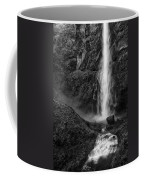 Multnomah Falls In Black And White Coffee Mug